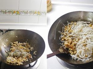 pad thai, preparación del plato