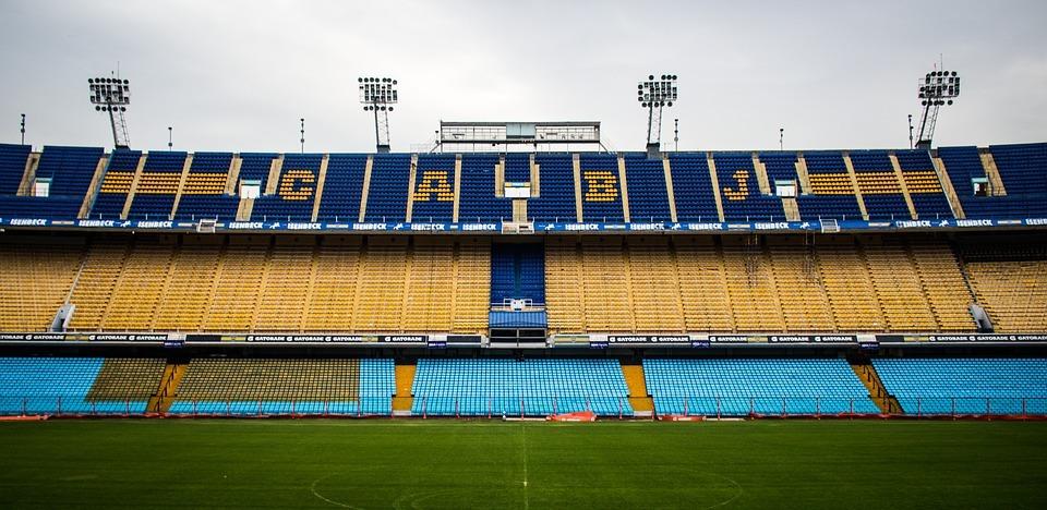 Interior de la Bombonera, estadio de fútbol de Boca Juniors