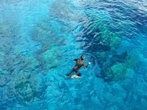 Aguas cristalinas de las Maldivas