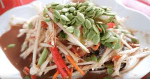 Som Tam Jay So, comida callejera en Bangkok