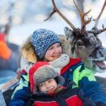 excursión trineo de renos