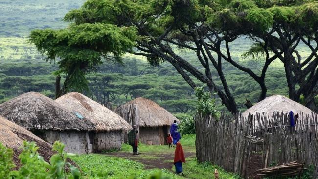 Kenia - Tanzania - poblado