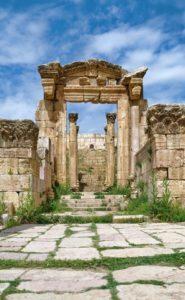 Ruinas de la ciudad de Jerash en Jordania