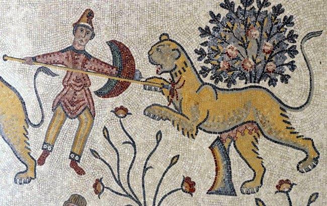 Mosaico bizantino en el Monte Nebo - Qué ver en Jordania