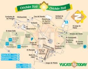 Mapa de Chichén Itzá
