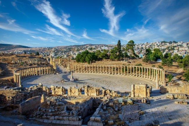 La Plaza ovalada en Jerash