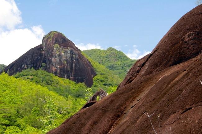 trekking por las montañas de Seychelles