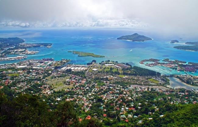 Vista aérea de la ciudad de Victoria